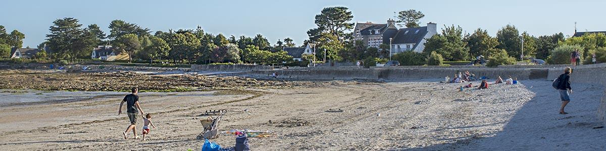 Loctudy plage de Langoz  fin d'après-midi