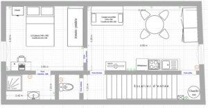 Plan des pièces de l'appartement
