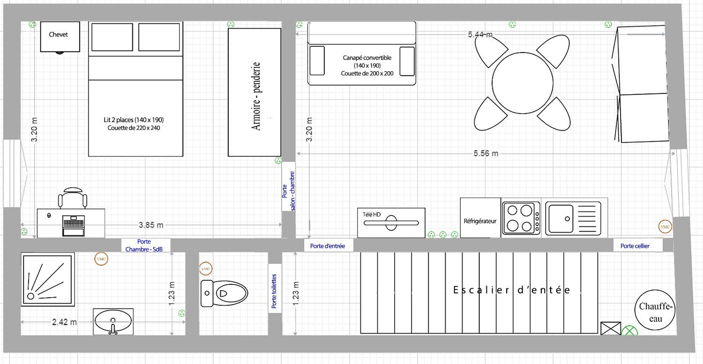 Plan des pièces de lappartement