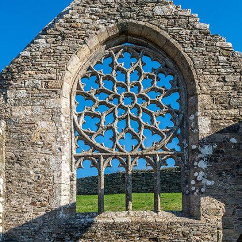 Chapelle de Languidou rose du chevet